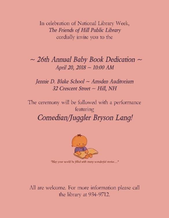 baby book flyer